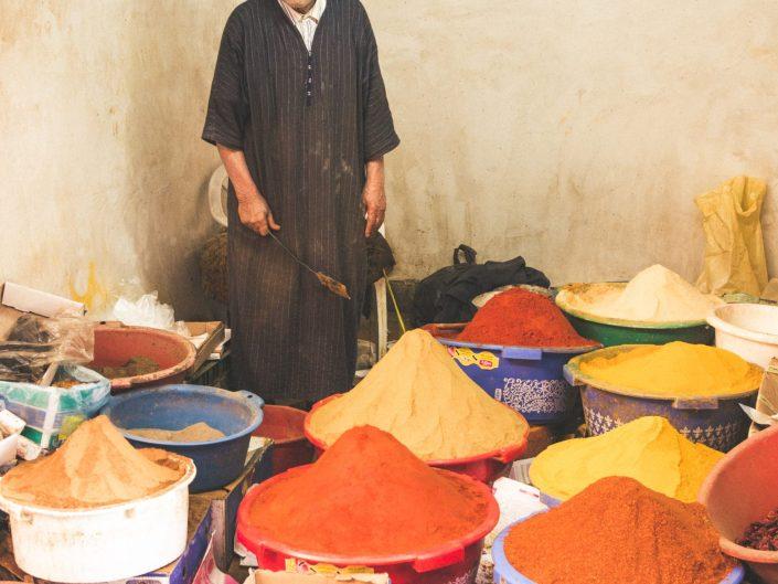 Spice seller in Marrakech