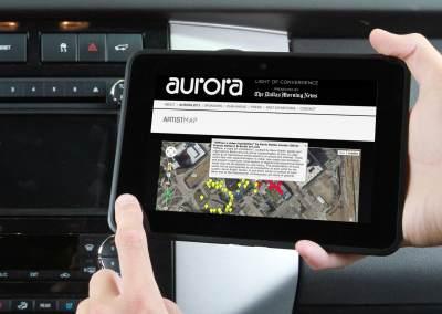 Artist Map for Aurora Web Site