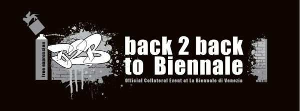 """Logo Design for the Official Collateral Event """"Back 2 Back to Biennale - © Tony Corocher"""