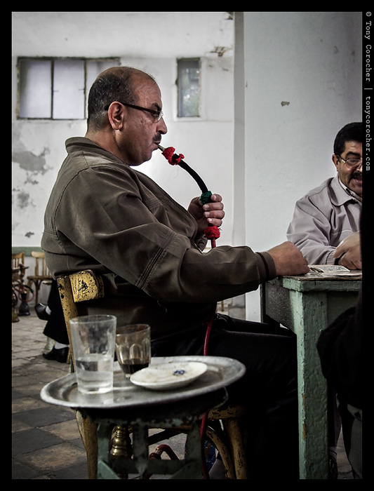 Relaxing at the card table in Jericho - 2013 © Tony Corocher | All Rights Reserved