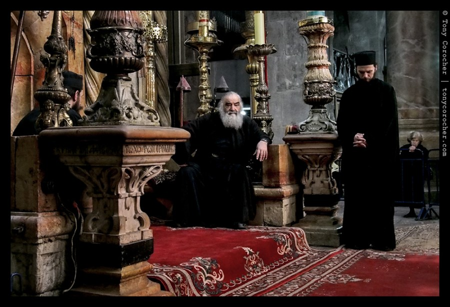 Jerusalem - Orthodox Christians inside the Church of the Holy Sepulchre - 2013 © Tony Corocher | All Rights Reserved