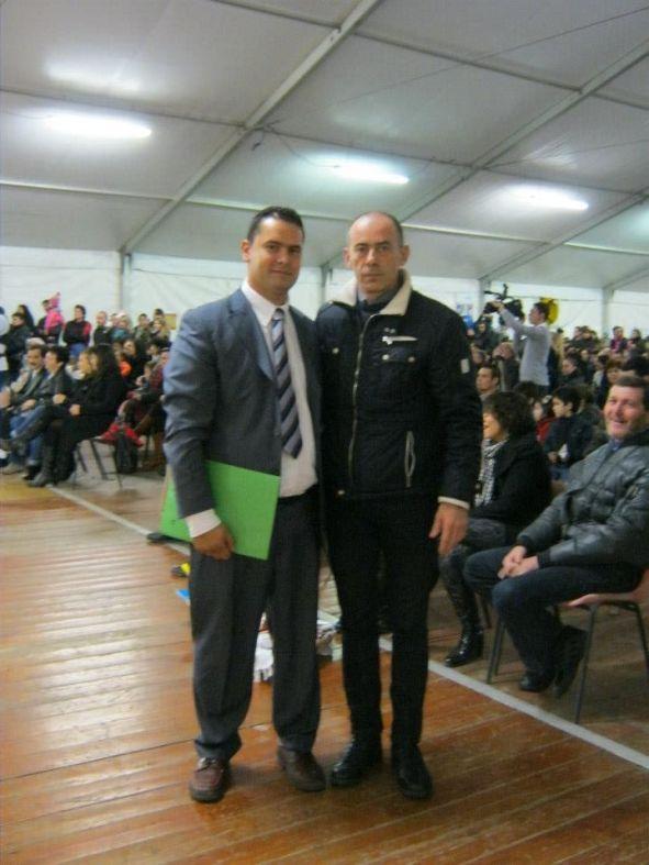 Cătălin Mustățea alături de primarul din Villafranca di Verona, Mario Faccioli la sărbătorirea Zilei Naționale a României