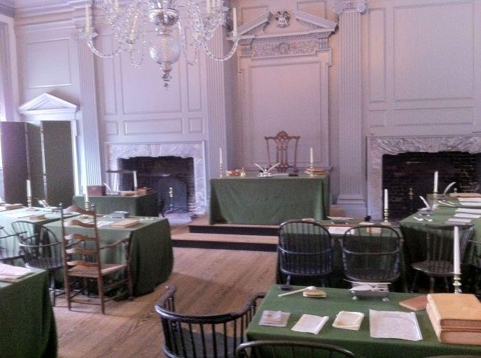 Independence Hall, donde se firmó la Independencia de los EEUU
