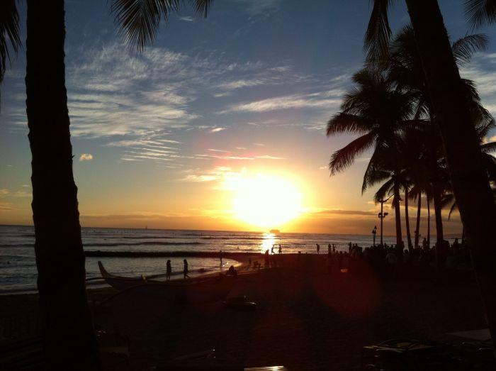 Atardecer en Waikiki Beach