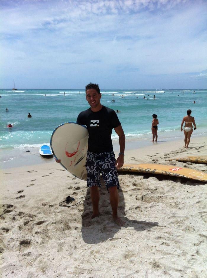 Mis primeras clases de surf, curiosamente el día de mi cumpleaños!!