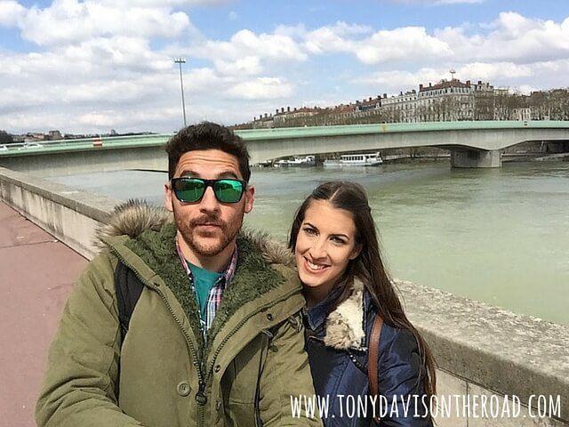 Marta y yo-Rio Rodano-Lyon