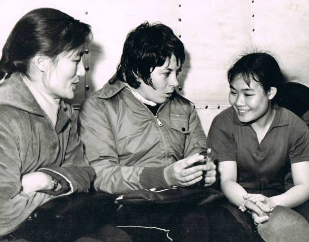 """Friendship First, Competition Second"". Yvonne and friends, Guangzhou 1974"