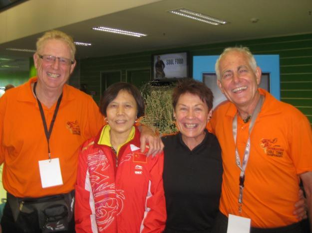 Wang Shuyun meets up with Robert Blair, Yvonne and James Morris, Auckland 2014