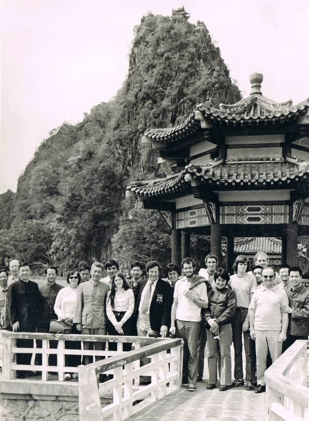 Sightseeing at the Seven Stars Cave Scenic Park, Zhaoqing 1974