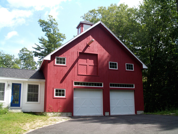 Classic cape with barn like garage tony fallon for Garages that look like barns