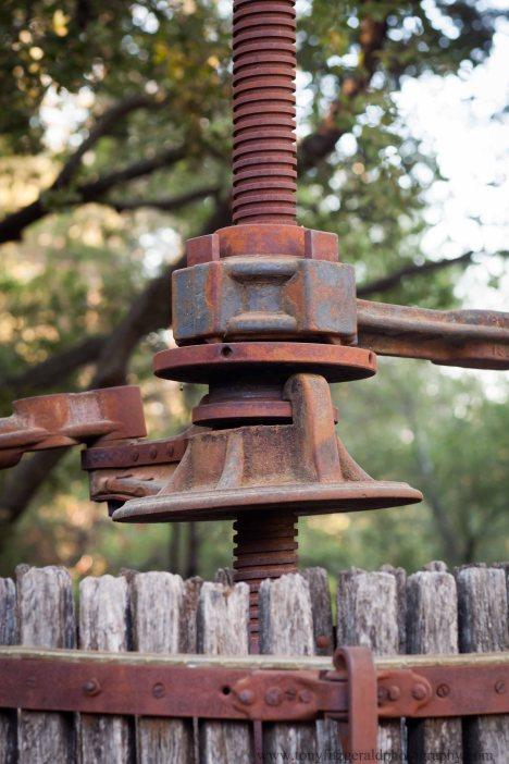 Testarossa Winery wine press.