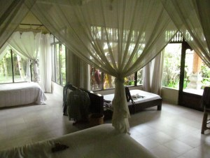 The second room I enjoyed at Melati Cottages. Much whiter and open than my first accommodations. Aren't mosquito nets ineffably romantic?