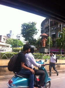 Motorcycle are everywhere in Mumbai.
