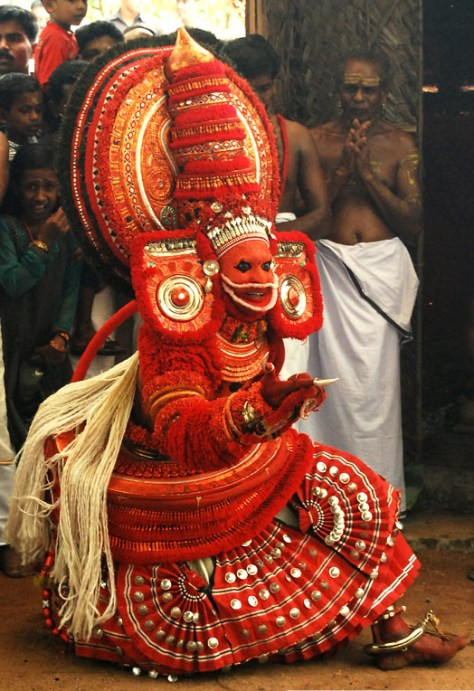 """Bali theyyam, Payyannur"" by Jasinth M V - Own work. Licensed under Creative Commons Attribution-Share Alike 3.0 via Wikimedia Commons - http://commons.wikimedia.org/wiki/File:Bali_theyyam,_Payyannur.jpg#mediaviewer/File:Bali_theyyam,_Payyannur.jpg"