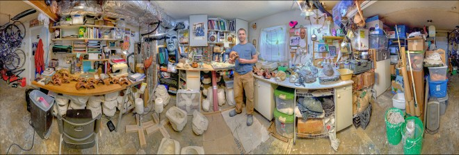 My studio, in panorama! Photo by Dennis Galloway