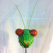 A variation from the previous sculpture. The eyes were further refined and smoothed with paper clay.