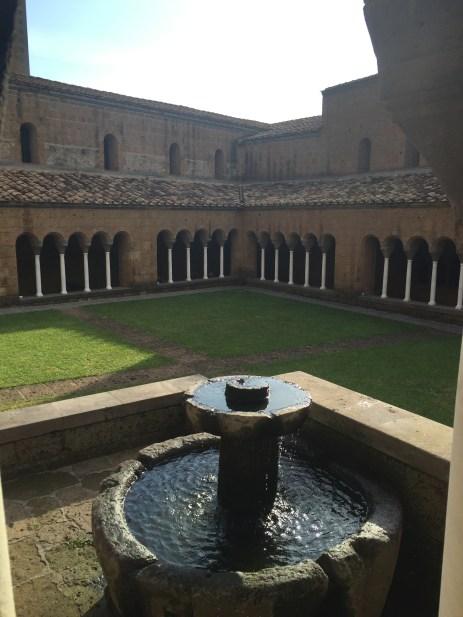 Courtyard of the Abbazia San Giusto