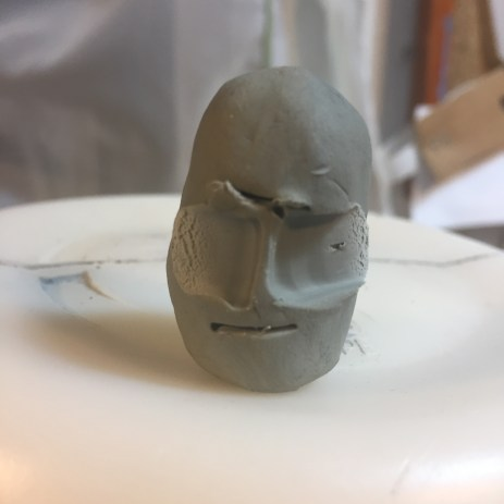 Playing in plasticene miniature to try ideas.