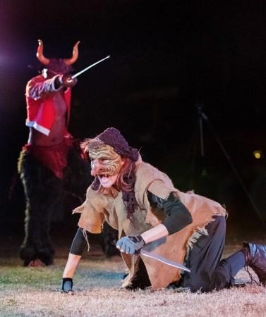 Minotaur vs Goblin. Photo: Leslie Gamboni