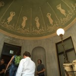 The muses on the ceiling, upstairs at Caffe Pedrocchi
