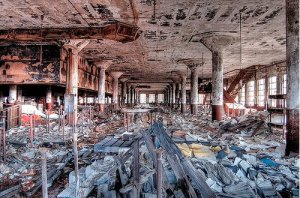 detroit decay2 300x198 - Where's My Flying Car … and an Efficient IT Market?