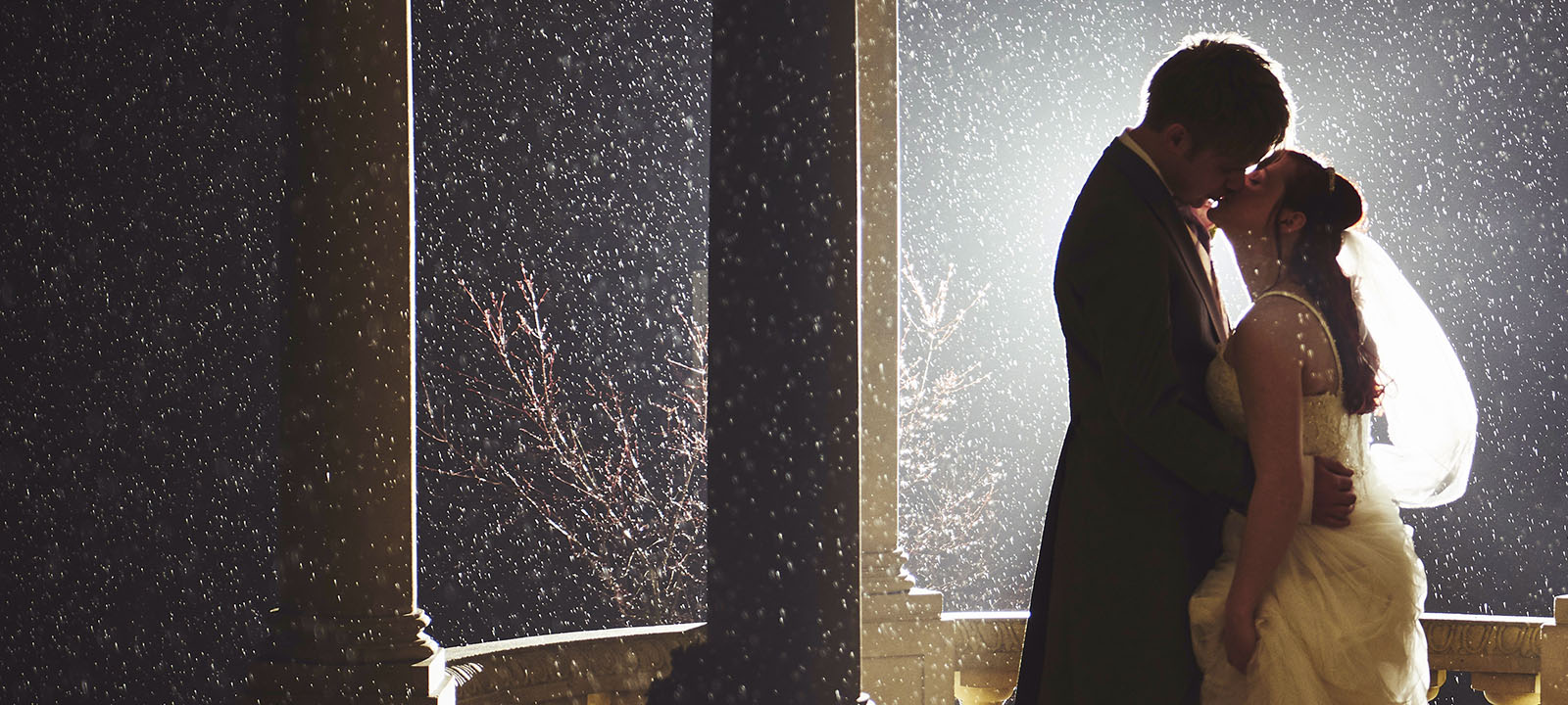 Winter Wedding in the Snow, Sleet & Rain at Ringwood Hall Hotel, Chesterfield - Wedding Photographer