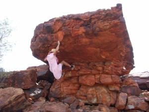 Climbing in drag