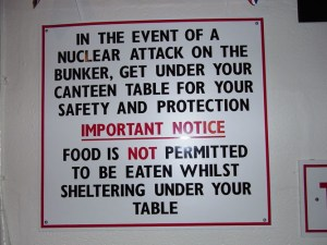 Sign in bunker