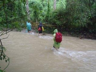 Rockclimbing-Wading-through-river