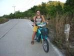 Gill on bike