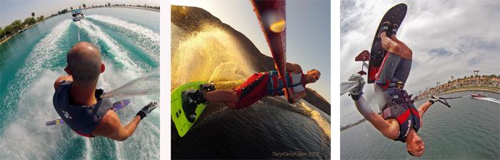 Klarich Water Ski Slalom Side SLide Wakeboard Sky Ski GoPro