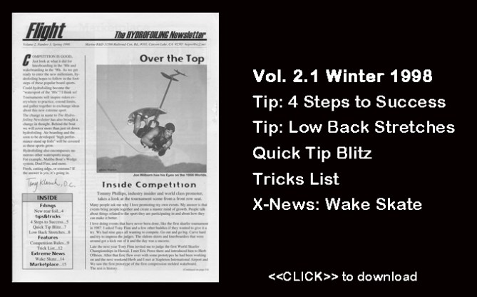 Flight Worlds Hydrofoiling 2.1 Low Back Stretches Water Skiing Success Boating Watersports