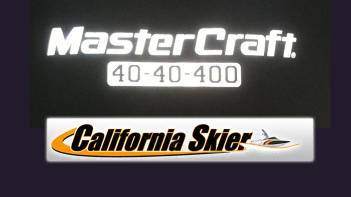 MasterCraft 40-40-400 logo CA skier