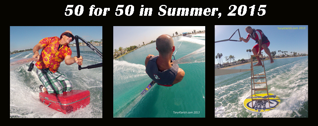 Home 50 for 50 Slalom Water Skiing Disc and Ladder