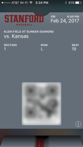Individual Ticket Tickets Via Apple Wallet