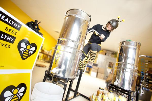 The Beez Kneez Pedal-Powered Honey Extraction
