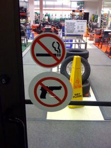 No Smoking Guns courtesy of David King on Flickr