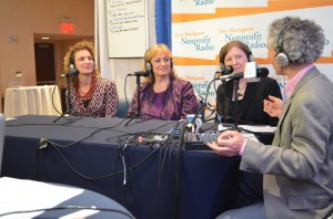 Interviewing (L to R): Allison Chernow,Terry Billie & Holly Bellows at Fundraising Day New York 2013