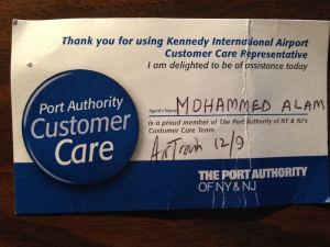 Port Authority Customer Care rep badge Dec 16 blog post