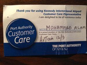 Port Authority Customer Care rep badge Dec 16 blog post