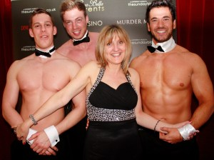 Karen Harber with Casa Bella Butlers, from left; Alex, Ben and Steven