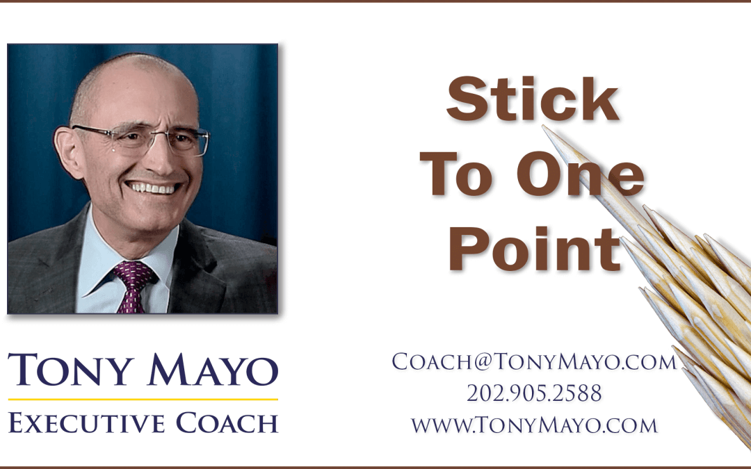 VIDEO: Stick to One Point, Make a Big Impact