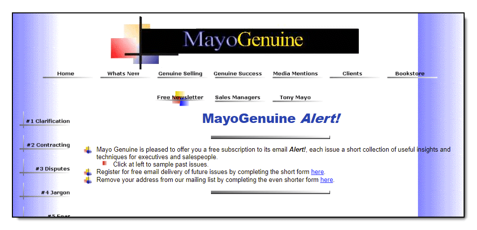 MayoGenuine.com on Erol's in 1996