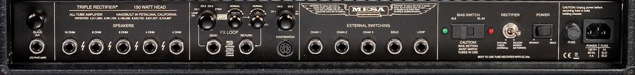 Mesa Boogie Triple Rectifier Specifications  tonymckenziecom