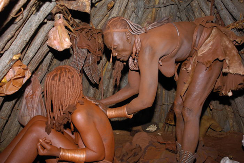 Himba women's morning ritual