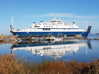 Not our ferry. This one didn't work. Former UK ferry.