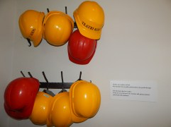 """People OVER 5' 3"""" needed to wear safety hats"""