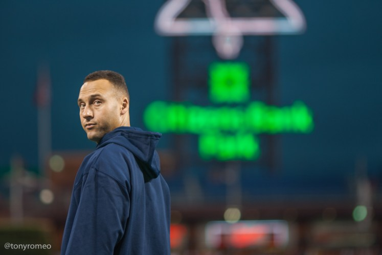 Derek Jeter at the 2009 World Series at Citizens Bank Park.