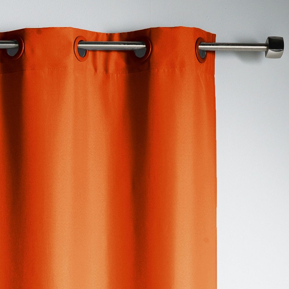 Coravelle Bettwäsche Curtains & Blinds Curtains & Pelmets Essentiel Plain Single Curtain Panel With Plastic Eyelets Home, Furniture & Diy Govtapply.in