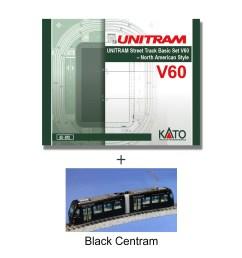 kato v60 unitram track set black centram bundle 40 810 4 jpg [ 1770 x 1600 Pixel ]